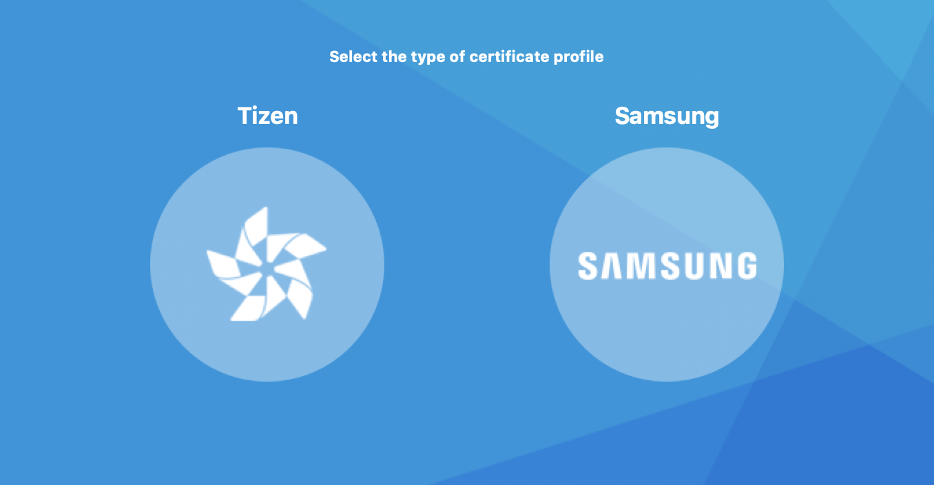 Certificate type selection window in Certificate Manager
