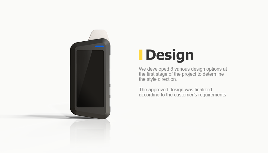 We developed 8 various design options at the first stage of the project to determine the style direction
