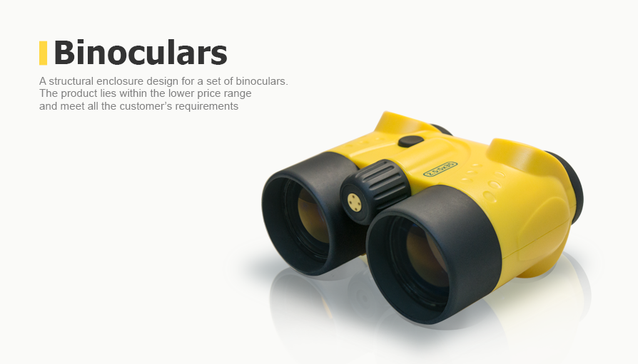 A structural enclosure design for a set of binoculars
