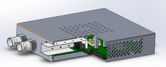 Enclosure for heat dissipation from heated components