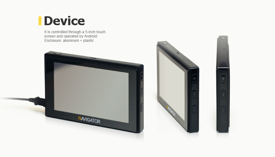 navigation device which supports GLONASS / GPS, mobile communication and data transmission