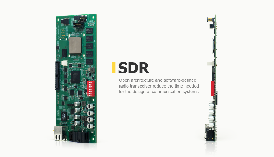 Open architecture and software-defined radio transceiver reduce the time needed for the design of communication systems